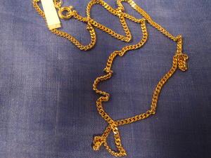 Guldförgylld kedja.Modell Pansar 40cm