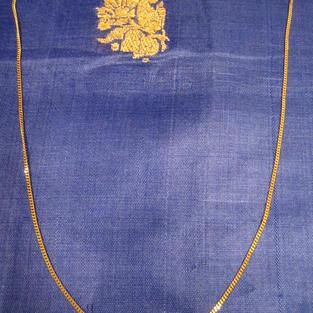 Guldkedja i 18 karat guld.Modell Pansar. 40 cm lång